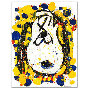 TOM EVERHART signed SNOOPY original litho SQUEEZE THE DAY Charles Schulz Peanuts