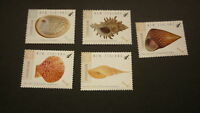 2015 NEW ZEALAND POST STAMPS, SET OF 5 NZ NATIVE SEASHELLS MINT MNH