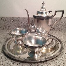 Vintage BENEDICT Period Plate CHINESE CHIPPENDALE Silverplate 5pc COFFEE SET