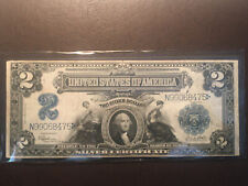 1899 $2 Silver Certificate Large US Currency- Beautiful
