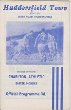 HUDDERSFIELD TOWN v CHARLTON ATHLETIC 60-61 LEAGUE MATCH