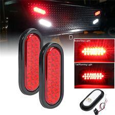 2x LED Rot PKW Anhänger Rückleuchte Schlußlicht Rücklicht Anhängerleuchte +Kabel