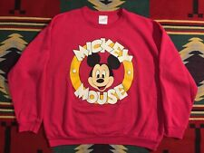 Vtg 80s Walt Disney Productions Mickey Mouse Sweatshirt Pink Large Made in USA!!