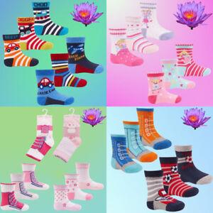 3 Pairs Baby Boys Girls Toddler Socks Soft Cotton Rich Winter Festive Designs UK