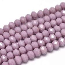45 Jade Perlen 8mm Smoke Violett Rondelle Facettiert Halbedelstein DIY G198#3
