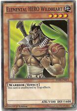 Elemental HERO Wildheart SDHS-EN011 Common Yu-Gi-Oh Card 1st Edition New