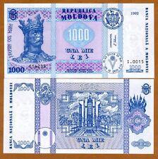 Moldova, 1000 Lei, 1992 (2003), ex-USSR, P-18, UNC > Highest Denom