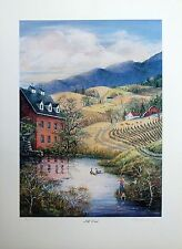 """Mary A Vessey- Set of 2 art prints: """"Mill Pond"""" & """"Friendly Geese""""   LTD ED  S/N"""