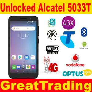 New Unlocked Telstra Essential Plus Alcatel  5033T 4G  Black -  all networks