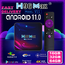More details for h96 max v11 tv box 16gb/32gb/64gb android 11.0 smart tv box media player wifi uk