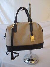 Tommy Hilfiger Beige CV Bowler 6935818 235 Handbag Purse Authentic