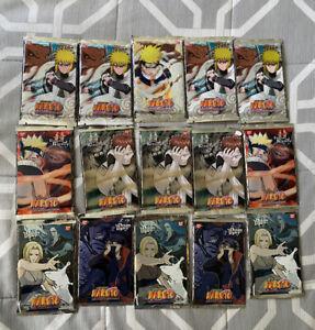 15X Naruto CCG Sealed Booster Packs, Cards Sleeves, & A Kakashi Tin