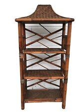 Pagoda Top 3 Tier Bamboo Floor Shelf