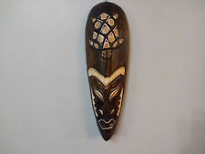 Hand Made Wood Wooden Wall Hanging Tribal Style Mask Room Decor