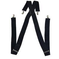 Men Women Clip on Suspender Elastic Elastic Adjustable Brace Solid Color Braces
