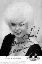 Jayne Mansfield ++Autogramm++ ++Hollywood Legende++3