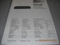 Dual CD20/150 CDP4500 Service Manual