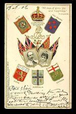 Royalty CORONATION Souvenir Edward VII u/b Tuck embossed PPC 1902