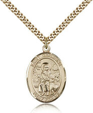 """Saint Germaine Cousin Medal For Men - Gold Filled Necklace On 24"""" Chain - 30 ..."""