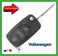 Coque Télécommande Plip Clé 3 Boutons VW Volkswagen Touareg New Beetle + Lame