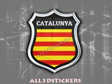 Pegatina Emblema 3D Relieve Bandera Senyera Señera Catalunya Cataluña
