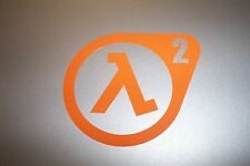 Half-Life 2 Logo Vinyl Decal Sticker HALF LIFE 2 ORANGE