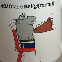 Sandra Boynton Cat Typewriter MOM Mother Coffee Tea Mug Cup Funny