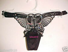 Butterfly Thong Panty Underwear Black Ladies Size S/5