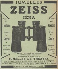 Z8286 Jumelles ZEISS Iéna - Pubblicità d'epoca - 1914 Old advertising