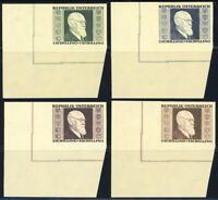 ÖSTERREICH, MiNr. 772-775 B, 772-75 B, Luxusbogenecken UL postfrisch, Mi. 280,-