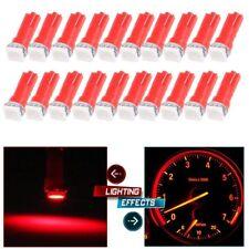 50Pcs Red T5 LED SMD Car Interior Gauge Cluster Instrument Dashboard Light 12V
