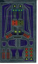 TRANSFORMERS GENERATION 1, G1 DECEPTICON SKYWARP REPRO LABELS / STICKERS