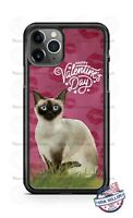 Happy Valentines Day Siamese Cat Phone Case Cover For iPhone Samsung LG Google