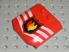 Capot LEGO CITY Fire red Wedge Ref 45677px1 / Set 65799 &  7240  Fire Station