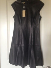 NWT Michael Kors made in Italy Black Leather Dress Size 8