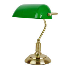 Antique Brass  Green Bankers Bedside Table Lamp Light Home Office Lighting NEW