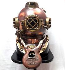 Brass Antique Scuba Diving Divers Helmet US Navy Mark V Solid Brass 18 W/ Base