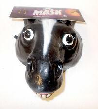 Caretas Rev Black Horse Pony Donkey Costume Mask Adult OSFM NIP