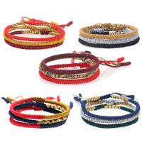 Tibetan Buddhist Handmade Knots Lucky Rope Bracelet Rope Wrist Chain Adjustable