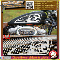2 stickers autocollant reservoir moto custom bobber chopper shark shoes skull HD