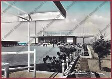 ROMA FIUMICINO 17 FREGENE - STABILIMENTO BALNEARE LA NAVE viagg. 1958 REAL PHOTO