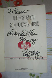 "BOB HOPE - ""THEY GOT ME COVERED"" - SECRETARIAL SIGNATURE -- JAN MORRILL LETTER"