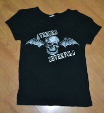 Avenged Sevenfold A7X Classic Bat Skull Logo T Shirt Womens Jrs Large Metal Band