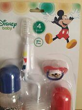 Disney Baby Mickey Mouse 4 Piece Baby Feeding Set 3+Months - BPA Free!
