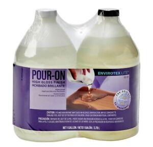 Envirotex Lite 02128 Pour-On High Gloss Waterproof Finish 1 Gallon/ 3.78 L