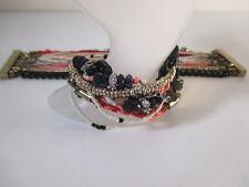 Ann Taylor Multi Bead Chain Charm Strand Magnetic Bracelet NIP $59 Set of 2