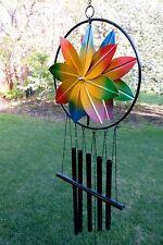 Metal Spinner Flower Wind Chime Chimes Garden Yard Decor 35 in. high
