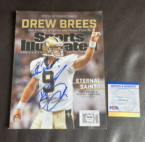 Drew Brees Signed Special Retirement Issue Sports Illustrated Magazine Psa/Dna