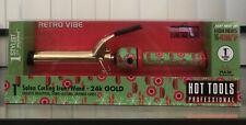 """Hot Tools Professional 1"""" Barrel Curling Iron - 24K Gold (RETRO VIBE!)"""