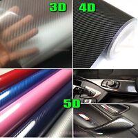 Decors 3D 4D 5D Grain Glossy Mirror Carbon Fiber Vinyl Tape Car Wrap Sticker AB